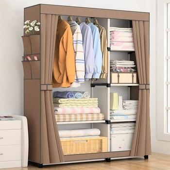 Muebles de almacenamiento portátiles, plegables, no tejidos, bricolaje, normal, armario mobiliario para...