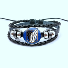 Bracelet Titan-Survey Ackerman Attack-On Cosplay Anime Levi Button Black Lover Gift Corps