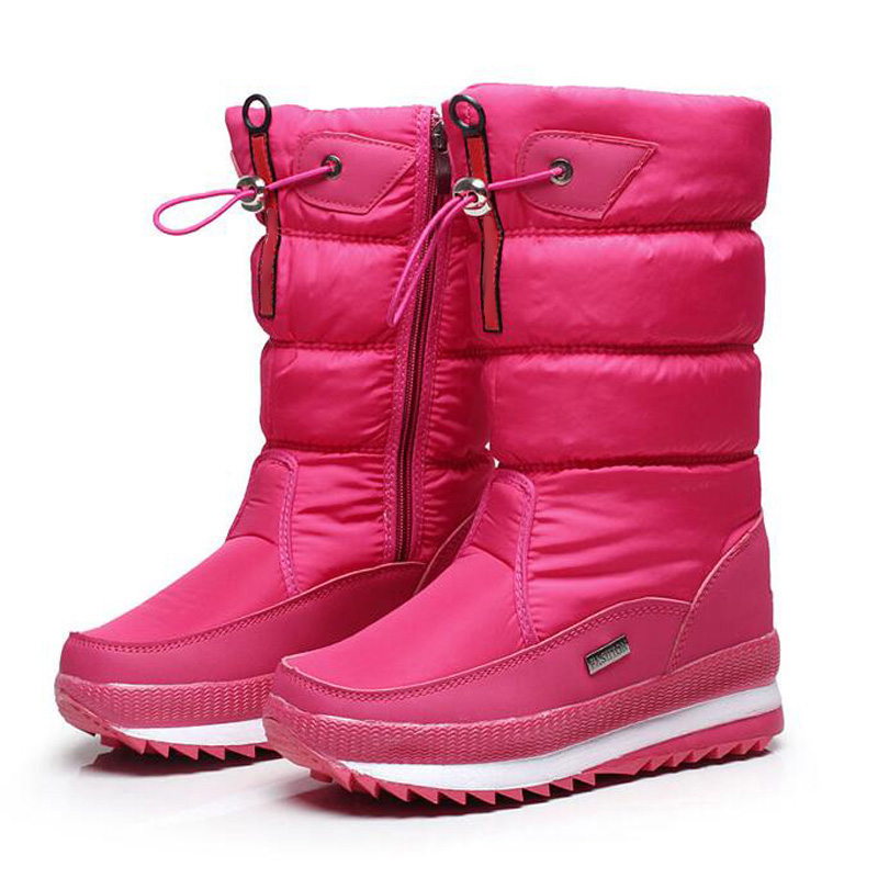 Simple Produs - 2017 Snow Boots Shoes Women Genuine Leather Large Yard Winter Boots Women Boots Warm ...