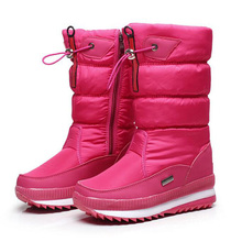New 2017 women's boots winter shoes thick plush non-slip waterproof snow boots for women botas mujer