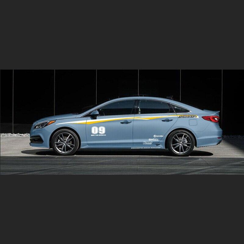 World Datong Sport Stripes Car Stickers For Hyundai SPORT