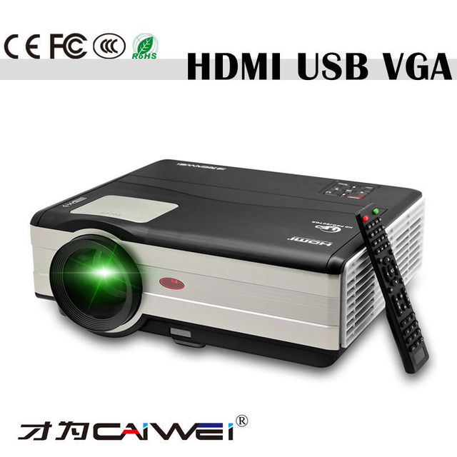 CAIWEI Big Screen Home Theater Projector LED Beamer Home Cinema HD Video HDMI USB VGA AV for Smartphone Television Tablet