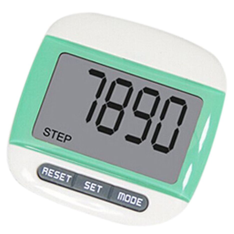 PROMOTION!Multifunction LCD Pedometer Walking, Step, Distance, Calorie Calculation Counter -Green