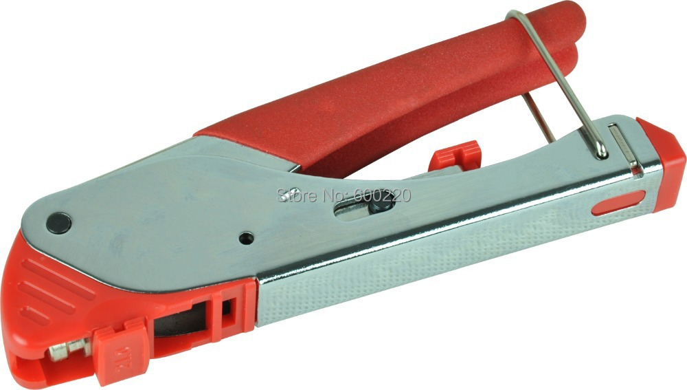 RG59/4C RG6/5C F-Type Waterproof Connectors Compression Crimping Tool with two exchangeable head