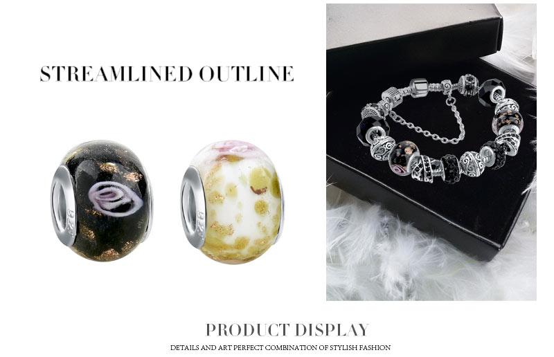 CHICVIE Black Crystal Chain Link Bracelets For Women Female Charm Custom Bracelets & Bangles DIY Silver Color Jewelry SBR160014 9