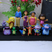 12 Pcs/lot NEW Dora The Explorer Adventures of Model Toys Furnishing Articles Action Figure 4cm~6cm Holiday Gifts Ornament