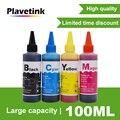 Plavetink 100 мл бутылка принтер краситель чернила заправка 4 цвета для Epson T0731 Stylus CX3900 CX5900 CX4900 TX200 многоразовые картриджи