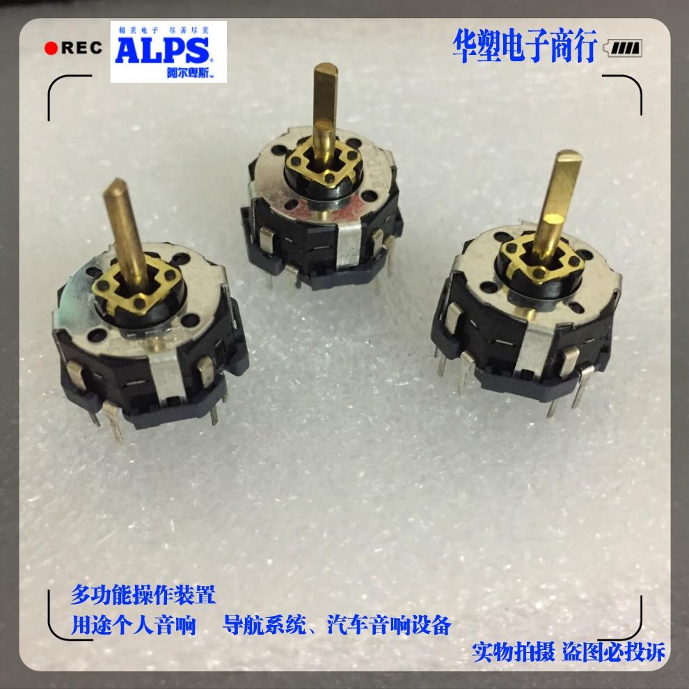 ALPS RKJXT1F многонаправленный клавишный переключатель с поворотным кодировщиком, 4 до плюс, 15 позиций, номер ручки, длина 10 мм