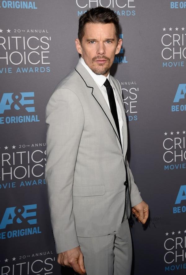 2018 Ethan Hawke Dress Grey Best Man For A Formal Wedding The Groom, Holds/man At Night Suit (jacket + Pants + Tie)