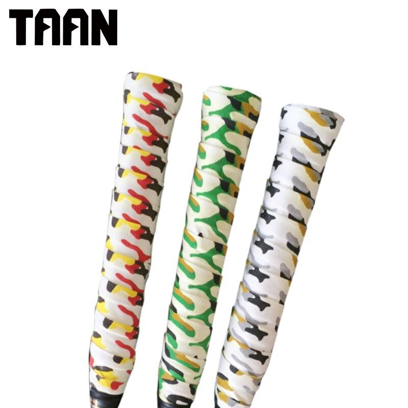 TAAN 2pcs/lot Tacky Sweatband Camouflage Tennis Racket Racket Grips Sweat Stick For Badminton Racket Over Grip