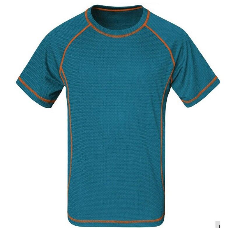 Prix pour CHAUDE! 2016 Nouvelle Marque Hommes D'été En Plein Air Sportswear T-shirts Pour Le Camping Montagne À Séchage Rapide Coolmax Séchage Rapide T-shirt 5 couleur