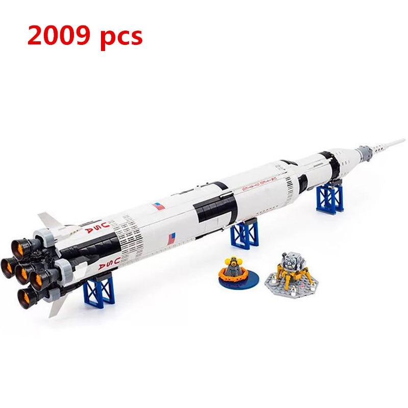 Lepin 37003 1969Pcs Creative Series The Apollo Saturn V Launch Vehicle Set Children Educational Building Blocks Bricks Toy 21309 цена и фото