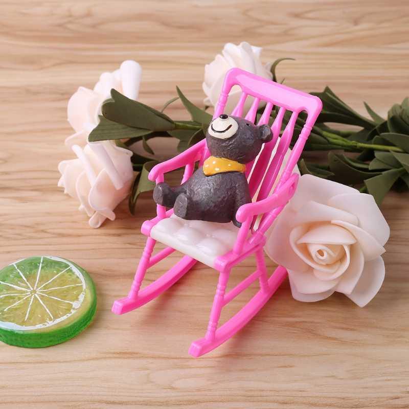 مصغرة دمية كرسي متأرجح إكسسوارات دمي ل باربي دمية ألعاب بنات Oct20