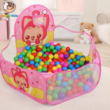 Kids Indoor Outdoor Easy Folding Ocean Ball Pool Pit Game Tent Play Hut Girls Garden Playhouse Children Toy Tent Christmas Gift недорого