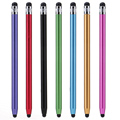 Dual Heads Ends Round Capacitive Touch Screen Pen Stylus For iPad iPhone Samsung