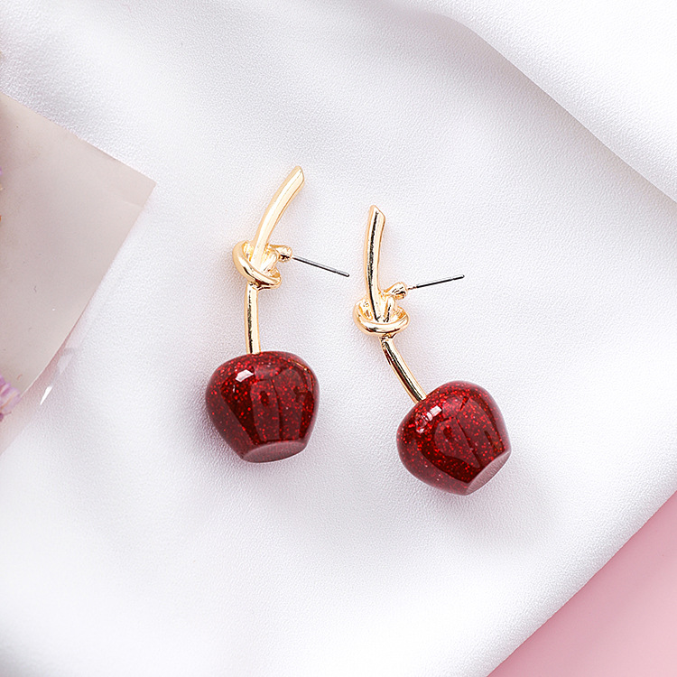 Cute/romantic Round Women Dangle Earrings Sweet Cherry Cherry Earrings Earrings For Women Drops Earrings 10