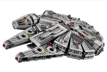 DHL 1381PCS Star Wars Force Awakens Han Solo Millennium Falcon Building Minifigures Toy Compatible with Legoe 75105 Lepin 05007