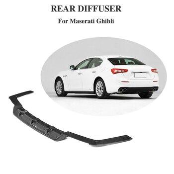Carbon Fiber Diffuser for Maserati Ghibli Base Sedan 4 Door 2018 2019 Rear Bumper Lip Splitter Apron Bumpers Automobiles & Motorcycles -