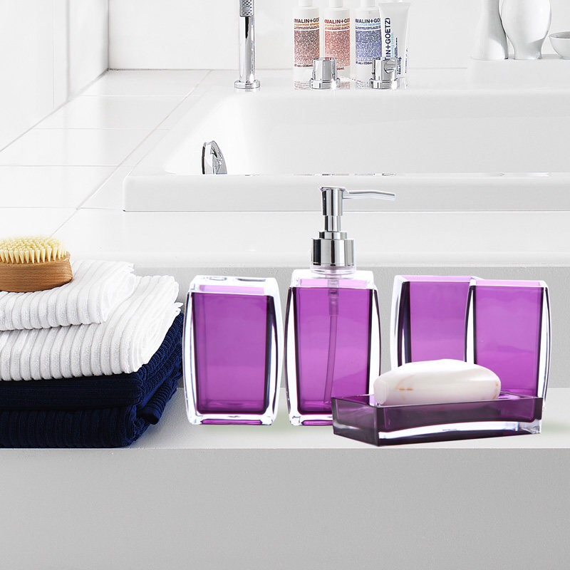 Modern sample style home Bathroom 5pcs set acrylic crystal bathroom pieces  toiletries kit fashion brief new. Popular Modern Bathroom Sets Buy Cheap Modern Bathroom Sets lots