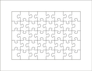 puzzle die A4-40pcs thickness 23.8mm