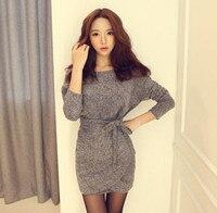 Mode frauen kleidung Außenhandel Herbst Frau Neue Muster Mode Abnehmen Fledermaus Ärmel Kleid #1353