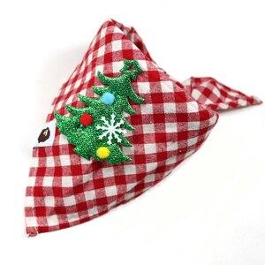 Image 3 - 30 sztuk świąteczne artykuły dla zwierząt ręcznie robione bawełniane regulowane psy kot chusty szalik muszki święty mikołaj Snowman akcesoria dla psa
