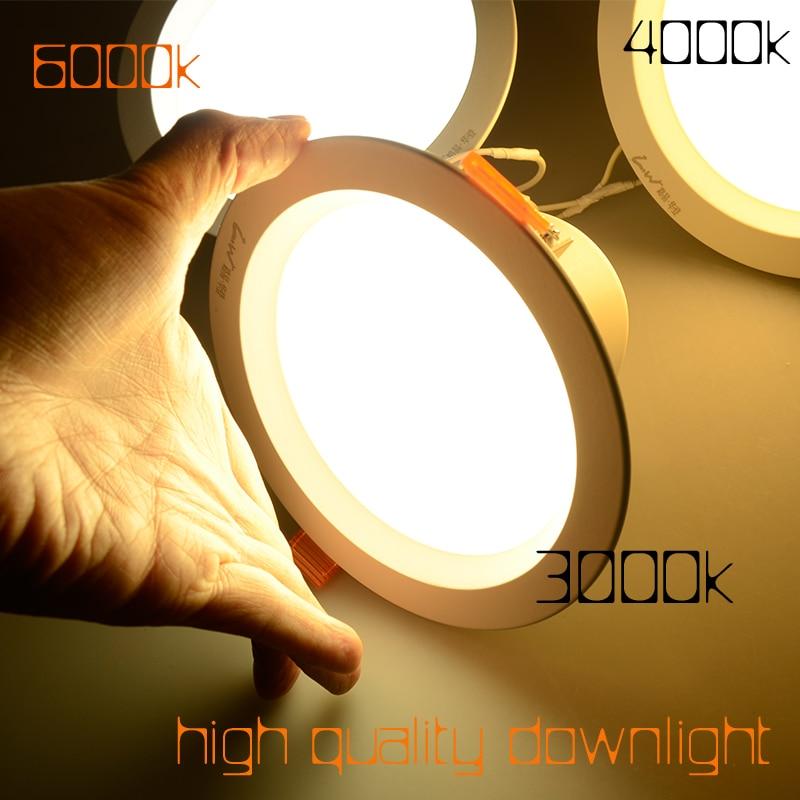 GEFÜHRTE Vertiefte Downlight 6 watt 9 watt 12 watt 18 watt AC220v CRI 85 4 zoll 6 zoll Hohe Lumen 3000 karat 4000 karat 6000 karat Ceilling Licht led Downlights