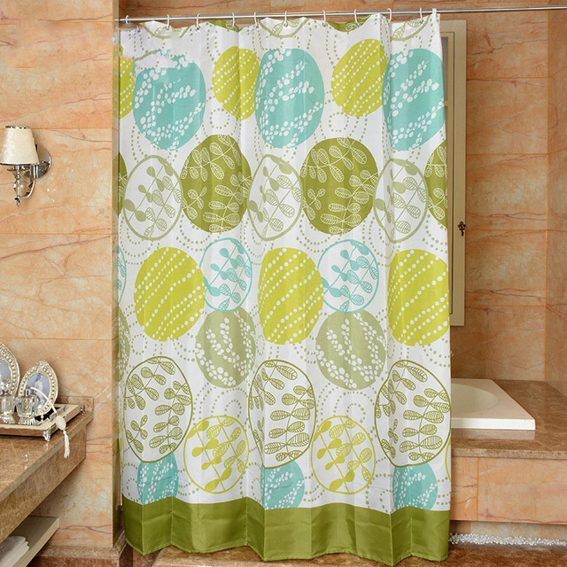 180x180CM Spring Pastoral Fabric Shower Curtains Liners Bathroom ...