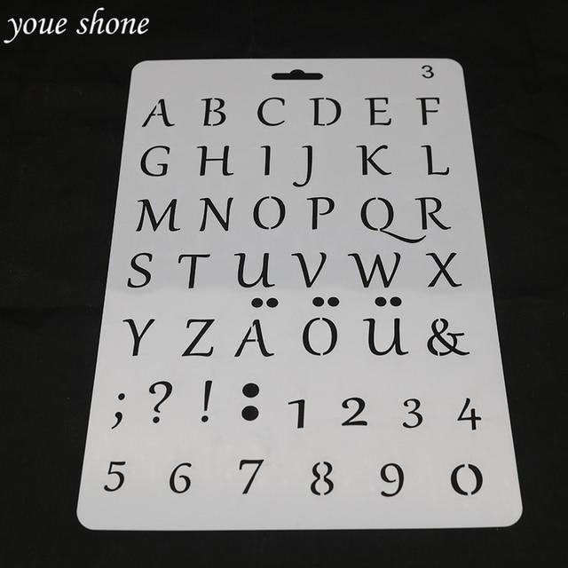 1 Stucke 26 Buchstaben 0 9 Zahlen Kuchen Form Pet Material