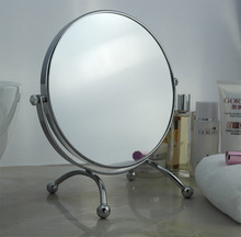 8 inch fashion high-definition desktop makeup mirror /  2-Face metal bathroom mirror magnifying/360 degree rotating mirror