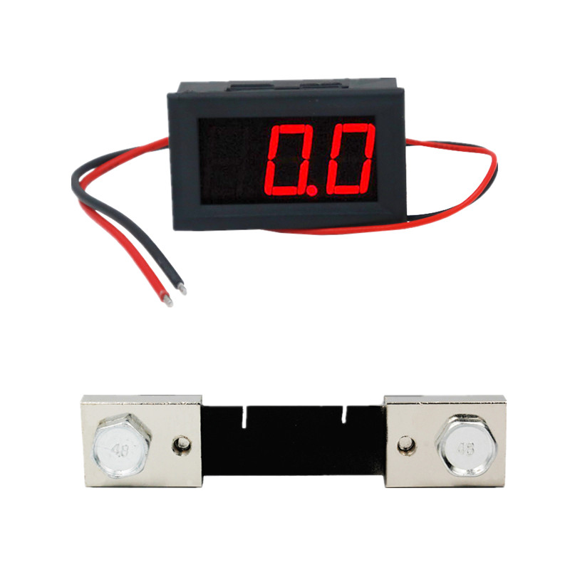 DC 0.0-100A Amp Meter Current Ampere tester Panel Ammeter 3Bit for car motorcycle battery with 100A Shunt Resistor