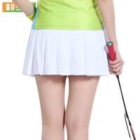 Summer Girl Pleated Dress Solid Color Tennis Skirt Women Skort Short Sports Skirt Badminton Sports Clothing 3012