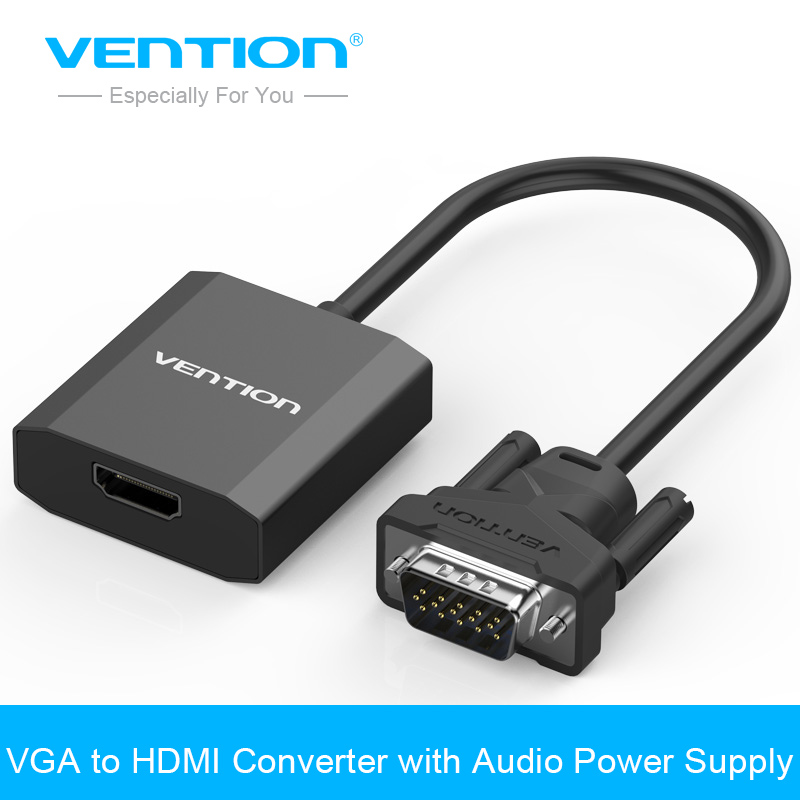 Vention VGA a HDMI Adaptador convertidor de Cable con Audio 1080 p VGA adaptador HDMI para PC portátil a HDTV proyector