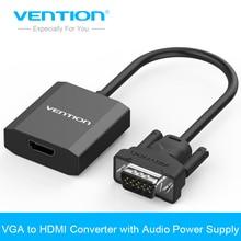 Vención Cable Adaptador VGA al Convertidor de HDMI con Audio 1080 P VGA Adaptador de HDMI para el Ordenador Portátil PC a HDTV Proyector