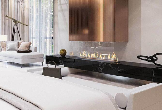 18 Inch Wifi Real Fire Automatic Intelligent Smart Ethanol Fireplace Modern Fireplace