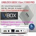 HDMI TV Box Desbloquear UBOX3 S900 Pro III Gen.3 Pro Android 5.1 16 GB 8 Núcleos de Versión 1200 + En Vivo Canales de Ultramar Sin Necesidad Alguna cuota