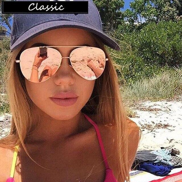 Design da marca Grau Piloto Óculos De Sol Das Mulheres Dos Homens óculos de  Sol Espelho ... e936ddeff8