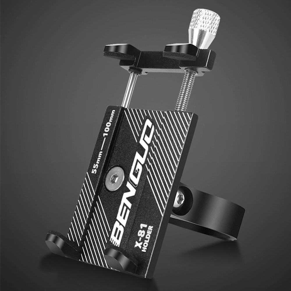 NEW Metal Bike Aluminium Alloy Phone <font><b>Holder</b></font> Motorcycle <font><b>Bicycle</b></font> Handlebar Mount Handle Phone Support For 3.5-6.2 inch <font><b>Smartphone</b></font> image