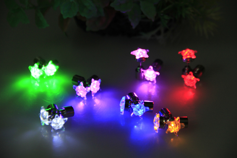 12pairs Night Party Supplies Glowing Earrings Led Fashion Star Flashing Stud For S Decoration In Glow From Home