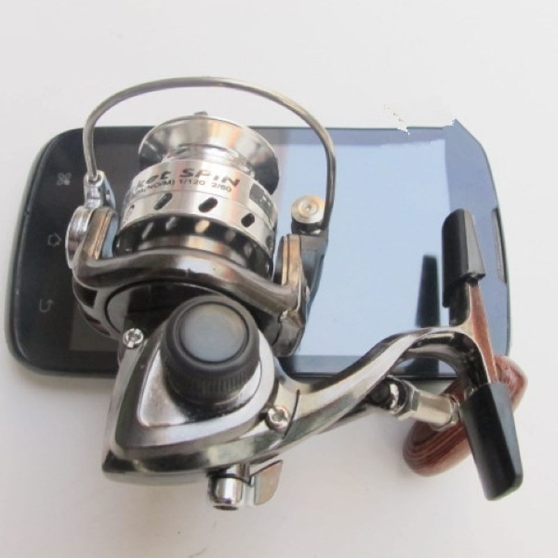Free Shipping World Smallest Mini Full Metal winter shore fishing reel spinning 1 precise Ball Bearing