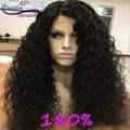 8A Onda Profunda Llena Del Cordón Pelucas de Pelo Humano Para Las Mujeres Negras brasileño de la Virgen Del Pelo Pelucas Llenas Del Cordón Sin Cola Del Frente Del Cordón Del Pelo Humano pelucas
