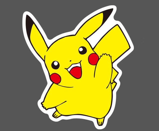 80 Pcslot Cute Cartoon Pikachu Sticker Toys Skateboard Graffiti