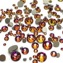 Vitrail Medium Color All Size 1 Bag Crystal Non Hotfix Rhinestones Flatback Glass Strass Nails Decorations For Nail Art Designs