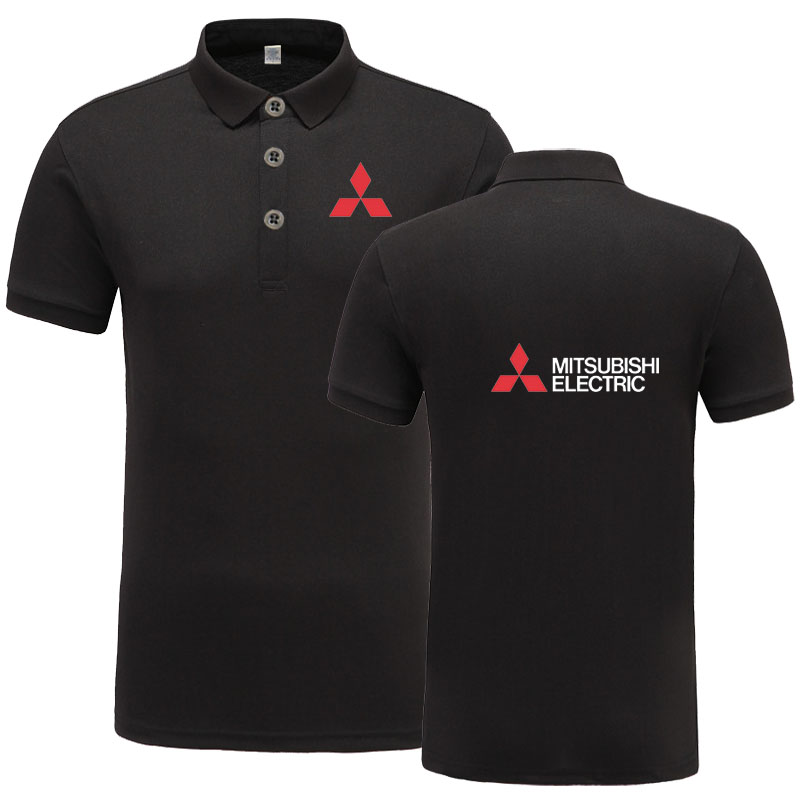 New Arrival Brand Clothing Men logo   Polo   Shirt Casual Male Mitsubishi   Polo   Shirt Short Sleeve   Polo   Shirt