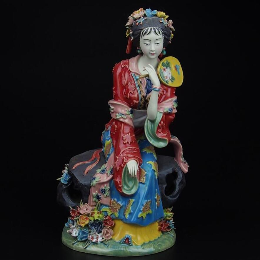 christmas decorations for home+ High 10.6 inch !!! Collect Chinese handmade Ming Dynasty palace ladies porcelain Sculpturechristmas decorations for home+ High 10.6 inch !!! Collect Chinese handmade Ming Dynasty palace ladies porcelain Sculpture