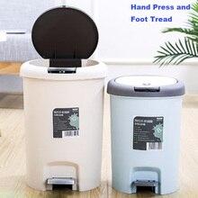 LF83088 пластиковый шаговый мусорный бак с контролем запаха 8л/12л Педальный мусорный бак для кухни офисный домашний бесшумный нежные Открытые и закрытые