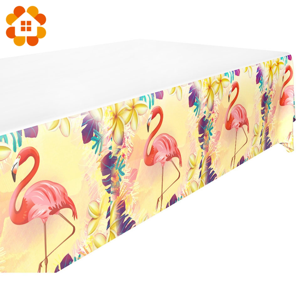 Flamingo Series Disposable Tableware Paper Material Diy Wedding Birthday Theme Party Decorations Kids Adult Supplies Table Decor