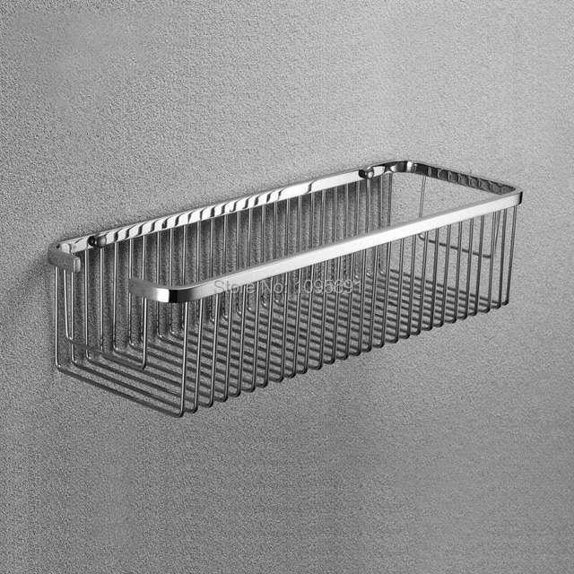 Polishing Mirror Light 304 Stainless Steel Bathroom Basket Shelves Frame Shelf Pendant