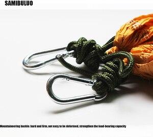 Image 5 - SAMIBULUO Кемпинг гамак Легкий Парашют портативный хамак для пешего туризма путешествия альпинизма 20 видов цветов в наличии