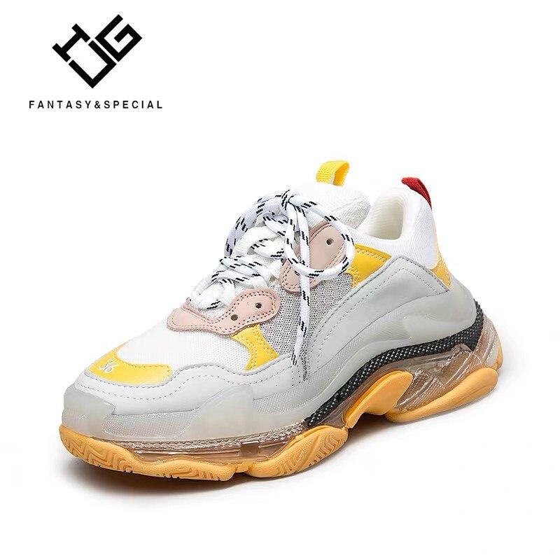 IGU/Женская обувь на плоской подошве, кроссовки из натуральной кожи, женская обувь на платформе, 2019, Harajuku, обувь на толстой подошве, Chaussures Femmes